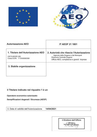 AEO certificazione