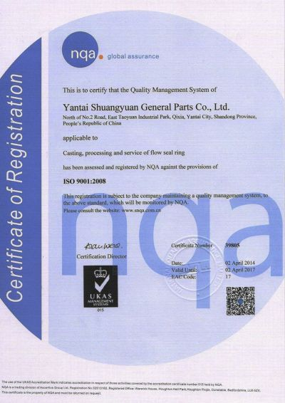 CERTIFICATION -SYS ISO9001 -2021